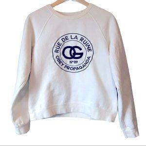 OBEY | embroidered logo crewneck sweatshirt